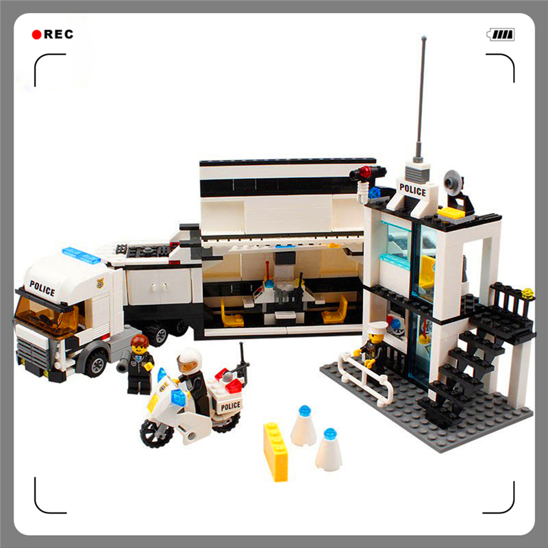 Enlighten Building Blocks Police Station 511Bricks Assemble Toy Interlocking Construction  For Kids Compatible Legoe mtele 6729 toy building blocks minifigures gift for kids policeman swat and helicopter building bricks kit assemble set