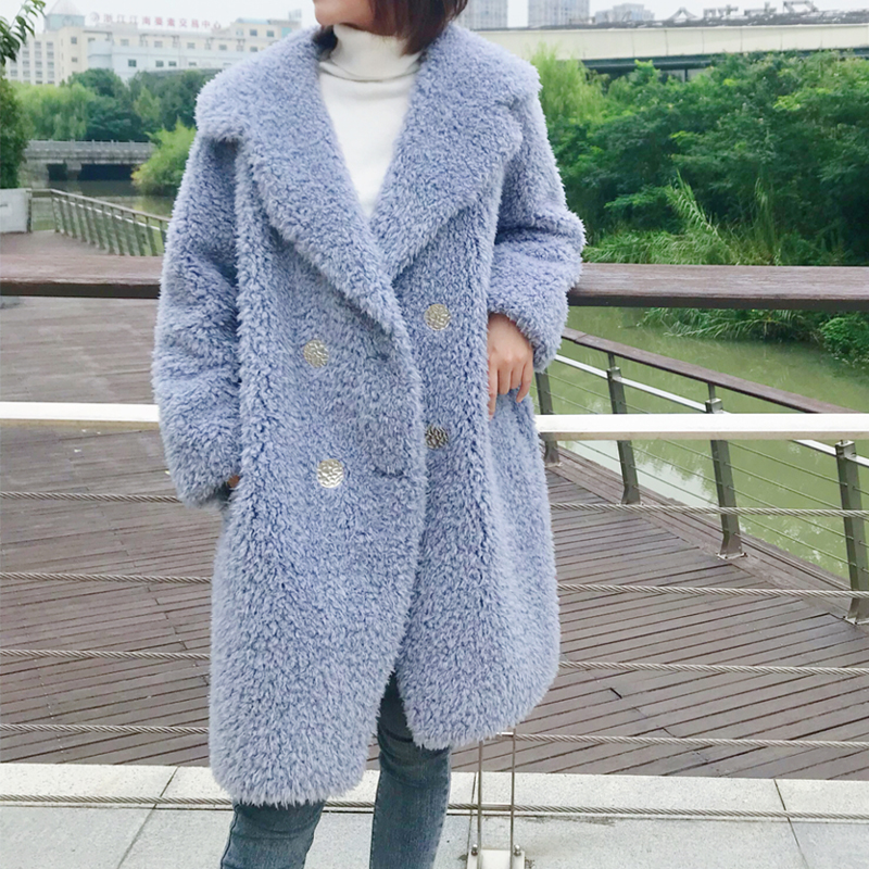 PUDI Winter Woman Real wool fur coat jacket overcoat women s long warm leisure coats jackets