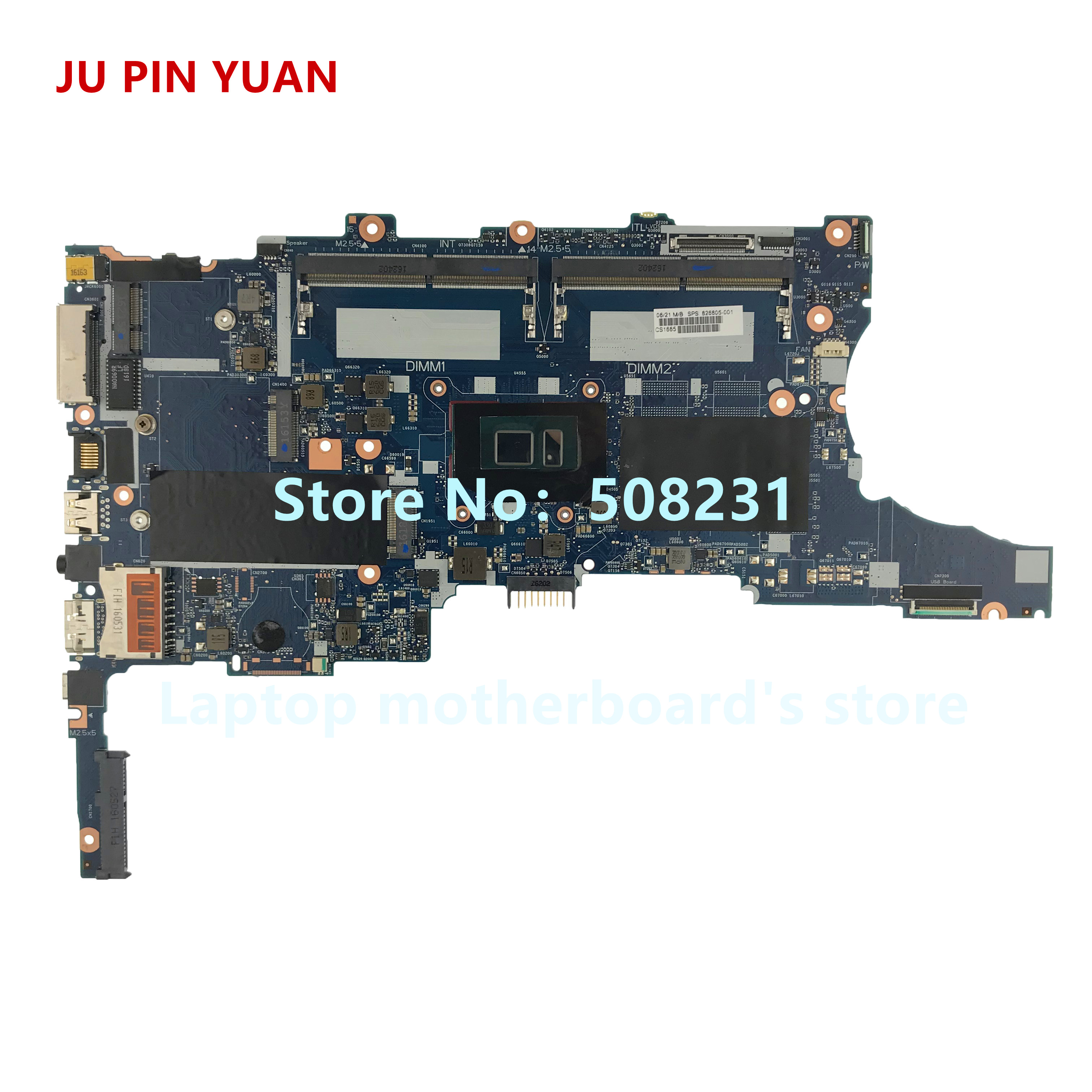 JU PIN YUAN 826805-001 Laptop Motherboard For HP EliteBook 840 G3 850 G3 Notebook PC With I5-6200u CPU 826805-601 Fully Tested