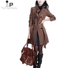 Fashion Autumn Winter women woolen coats 2018 Korean Especially elegant womens jacket Plus size Slim black Ladies long Overcoat(China)