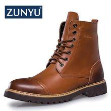efbfde10 ZUNYU 2018 nuevo Otoño e Invierno de los hombres de la moda botas de Estilo  Vintage casuales de los hombres zapatos de encaje-ca.