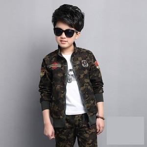 Image 5 - Male child clothing autumn set camouflage cotton 100% 2020 sports sets child spring boy long sleeve + pants 2pcs