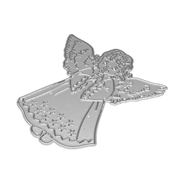 new angel pendant cutting dies stencil template diy scrapbook album