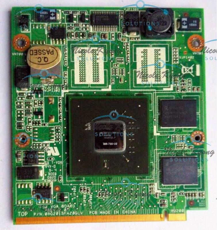 F52 VGA REV 2.0 G98 730 U2 9300M 08G2015FA20GLV 69N06IV10D03-01 VGA Video card for lenovo Y530 Y530A V550 laptop