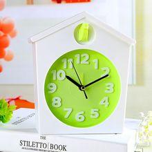 Criativo despertador mudo criança caráter casa do pássaro pequeno relógios pessoa preguiçosa de cabeceira moda simples relógios de mesa relógio de estudante