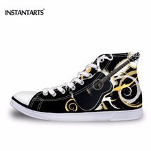 Men's Funny Rock Skull Man Is Playing The Guitar Sneakers Sports Running Shoes Athletic Shoes