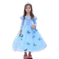 Flower Girls Dress 2017 New Princess Buterfly Party Dresses Birthday Christmas Clothes Halloween Costume For 3