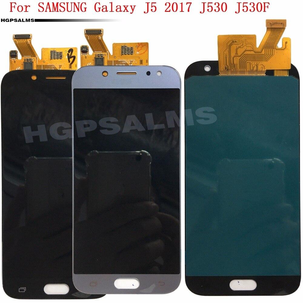 SUPER AMOLED pour SAMSUNG Galaxy J5 2017 J530 J530F Affichage à L'écran Tactile Digitizer Assemblée Réglable Luminosité