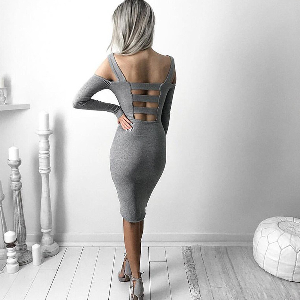 Aliexpress.com : Buy Sexy Hollow Out Backless Dress Off Shoulder ...