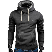 Новинка 2017 года Демисезонный толстовки Мужчины модный бренд пуловер сплошной цвет водолазка Спортивная Толстовка Мужская костюмы moleton