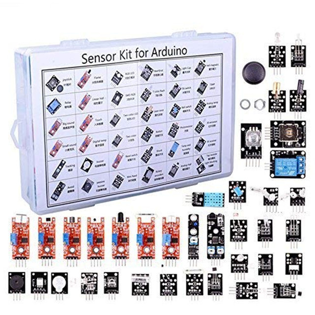 37 In 1 Sensor Module Board Set Kit for Arduino & MCU Education User for Arduino Starters DIY Raspberry Pi Mega2560 for UNO R3