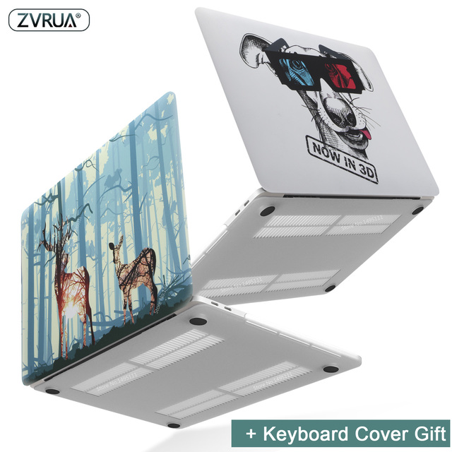 New Print Animal Laptop Case For MacBook Air Pro Retina 11 12 13 15 inch with Touch Bar + Keyboard Cover