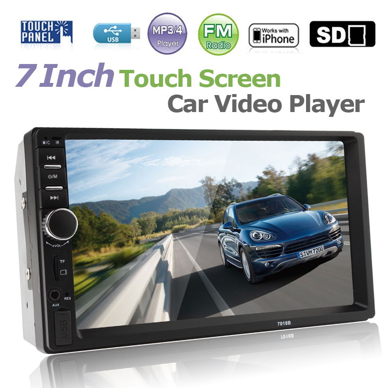 2 DIN 7 Bluetooth handsfree Car Radio Stereo Auto MP3 MP5 Player HD In Dash Touch Screen Support Audio Video FM USB SD MMC AUX 7 hd bluetooth touch screen car gps stereo radio 2 din fm mp5 mp3 usb aux z825
