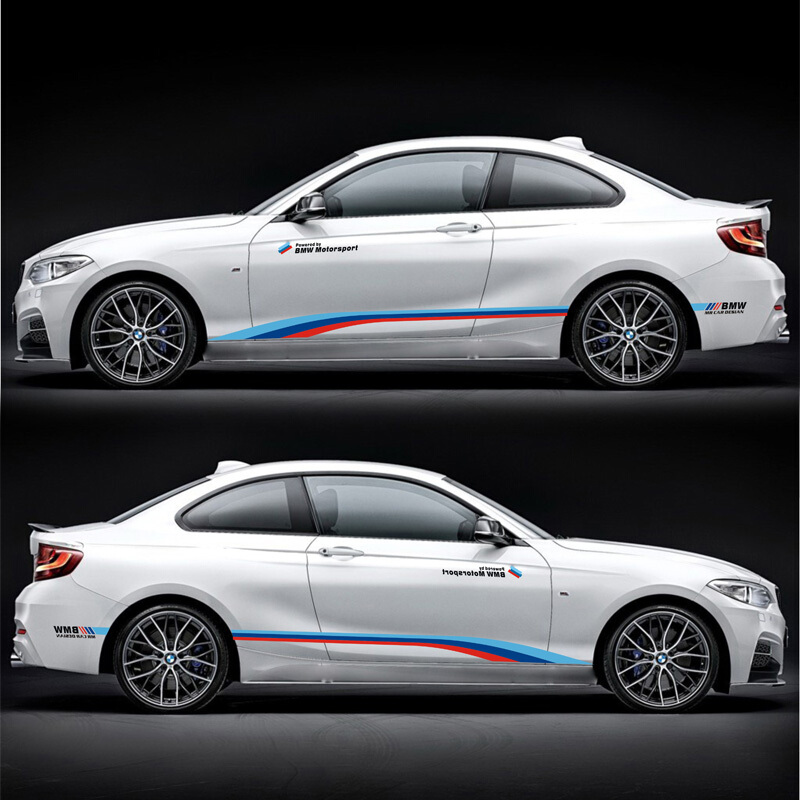 World Datong sport auto stickers For BMW M1 M2 M3 M4 M5 320iM car Both side body sport auto stickers
