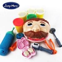 Children Dentist Toy Kids Imitate Doctor Toys Scene Simulation Rubber Mud Tooth Decay Oral Mirror Tweezer