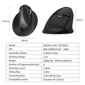 Image 5 - Delux M618Mini GX 2.4GHz Wireless Vertical Mouse 6 Button 1600 DPI Ergonomic Design Computer Mini USB Mice For Windows Laptop PC