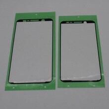 100 pz/lotto di Alta qualità Per Samsung Galaxy A6 A600F A6 più A605 LCD Telaio Anteriore Lunetta Autoadesivo Adesivo Colla del Nastro