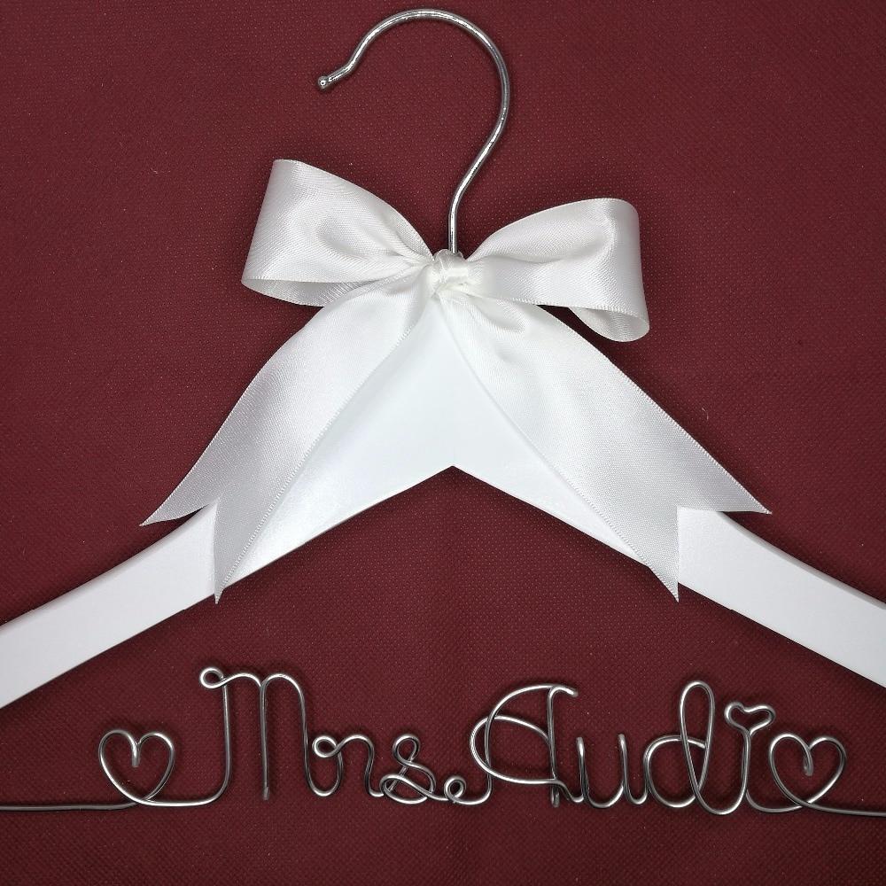 Персональная Свадебная Вешалка, подарки невесте, вешалка с именем, вешалка для платья невесты вешалка с жемчугом