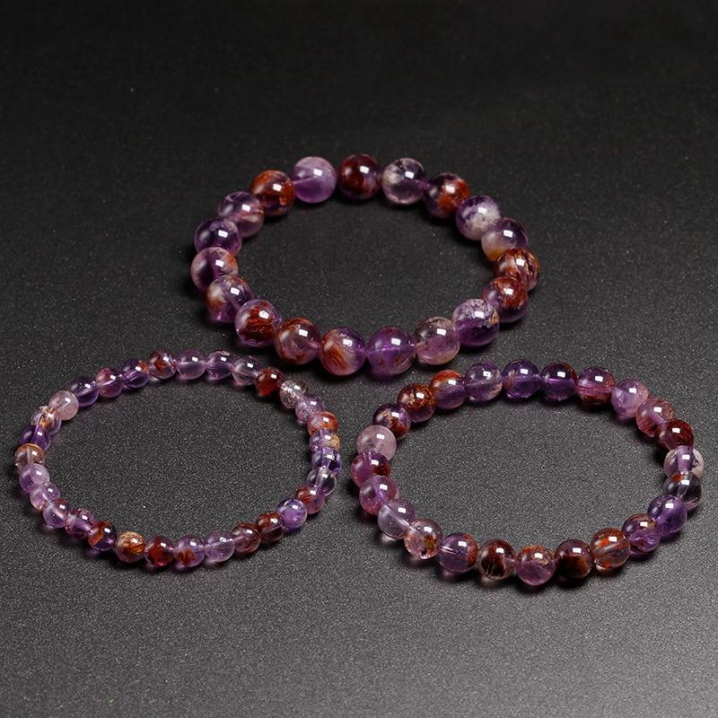 "Natural Gemstone Green Canada Jade Ronde Perles Extensible Fashion Bracelet 7/"""