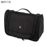 HKOTIIK Brand Beautician Oxford Cloth Makeup Bag Organizer Travel Bathroom Storage Bags Men And Women Cosmetics