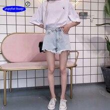 купить!  Подлинная / оригинальный грейпфрут Vintage шорты с высокой талией женщинЖенская джинсовая 2019 стиль Лучш