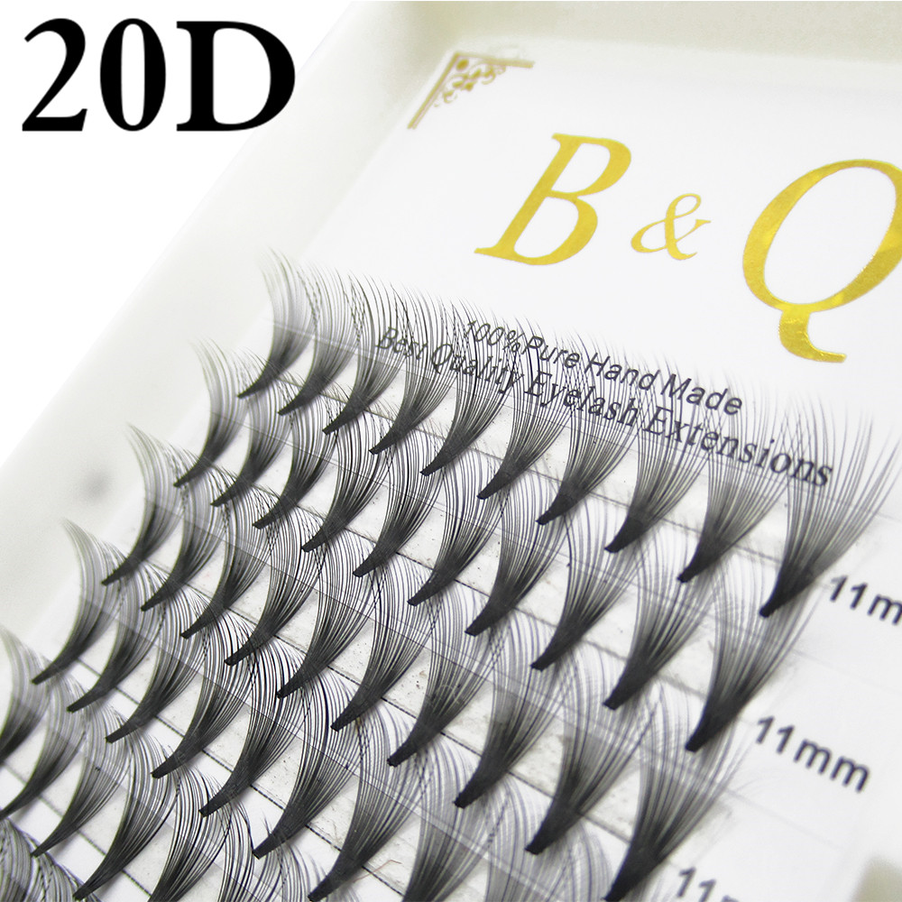 Professional Cilia Extension Kit Premade Volume Eyelash Fans 20D Russian Eyelashes Extension Permanent Individual Eyelash BK1 mling 50 cases lot eyelashes extension for russian volume premium quality mink eyelash extension individual lashes extension