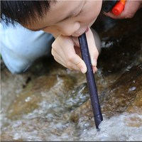 125mmx12mm Portable Mini Straw Water Purifier Camping Hiking Outdoor Water Straw Safety Survival Emergency Supplies Filter