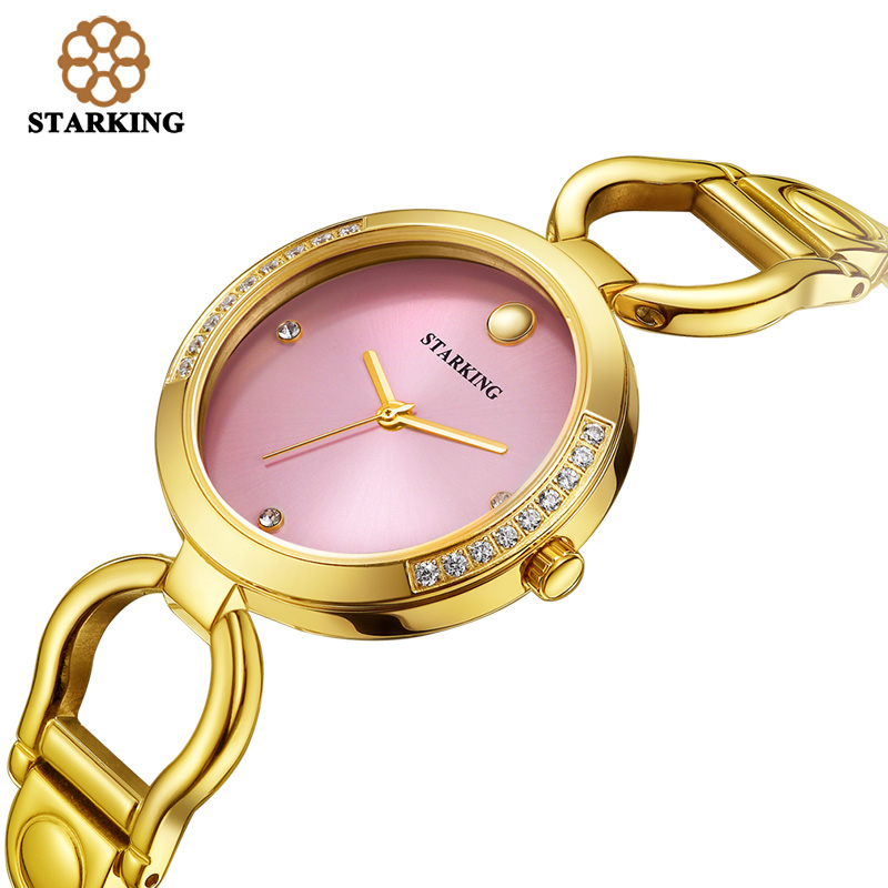 ФОТО STARKING New Luxury Women Watch Famous Brand Gold Fashion Design Bracelet Watch Ladies Women Wrist Watches Damske Hodinky BL0984