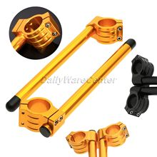 CNC 1Pair Motorcycle 39MM Universal Racing Adjustable Clip On Ons Fork Handlebars Handle Bar for Racer Motorbike