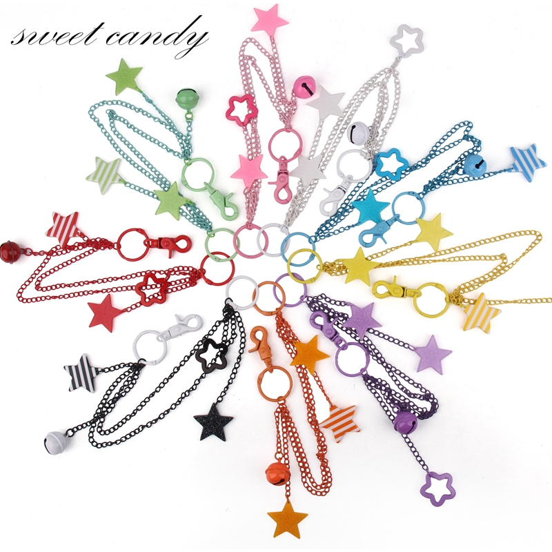Jk Uniform Bag Chain Pendant Chain Chain Pendant Star Color Multicolor Animation Decoration