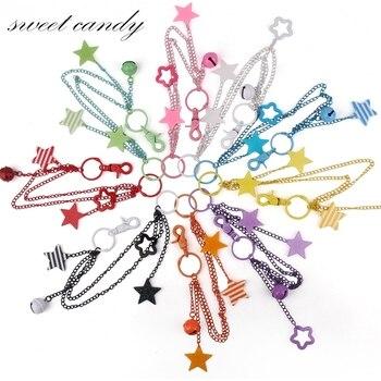 Jk uniform bag chain pendant chain chain pendant Star color multicolor animation decoration