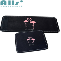 Black And Pink Floor Protection Mat Fashion Rug Welcome Brief Style Flamingo Floor Carpet For Kitchen Cheap Soft Floor Mat