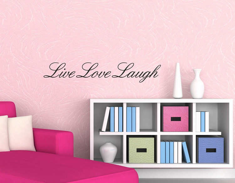 live laugh love wall art quote vinyl decal home. Black Bedroom Furniture Sets. Home Design Ideas