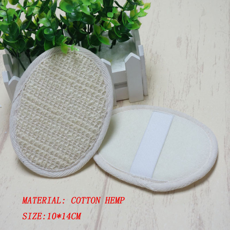 2018 hot sell free shipping 500pcs Hotel cotton hemp Bath rub Sisal Bath sponge cleaning sisal scurbber sponge