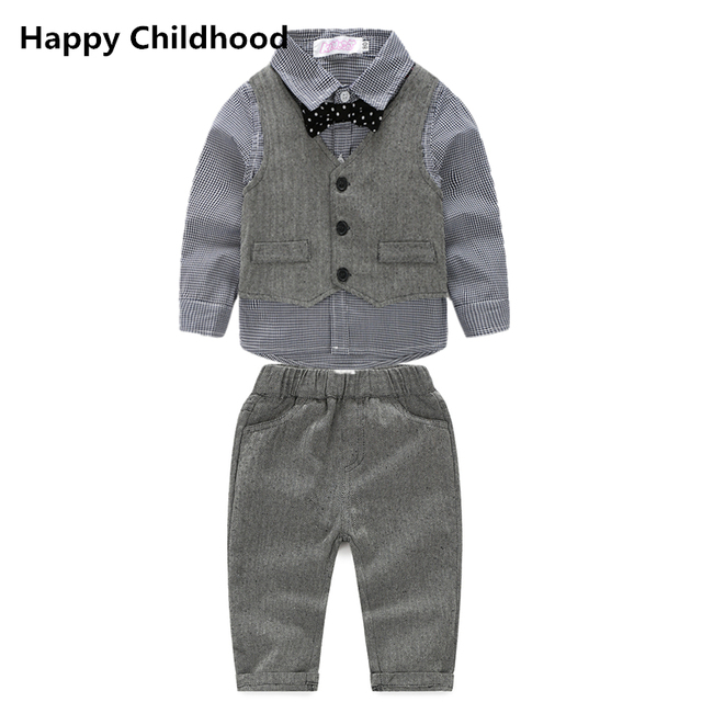 d43e0135ee5b 2017 Spring Fashion Gentleman Baby Boy Clothes 3pcs baby clothing ...