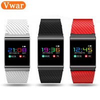 Vwar Colorful Touch Screen Bluetooth Connectivity Smart Watch Clock Blood Pressure Heart Rate Monitor Smartwatch For