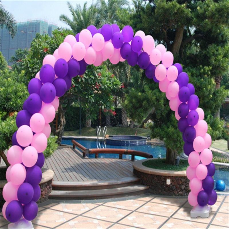 10 poles Wedding Balloon Arch Kit, Round Foil Balloon Stand, 7M Long ...