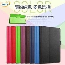 2017 caliente Del Lichí de 8 Pulgadas Delgado shell Protector Para Huawei MediaPad 8.0 M2 M2-801W/803L Tablet Caso Litchi Cubierta de Cuero de LA PU envío