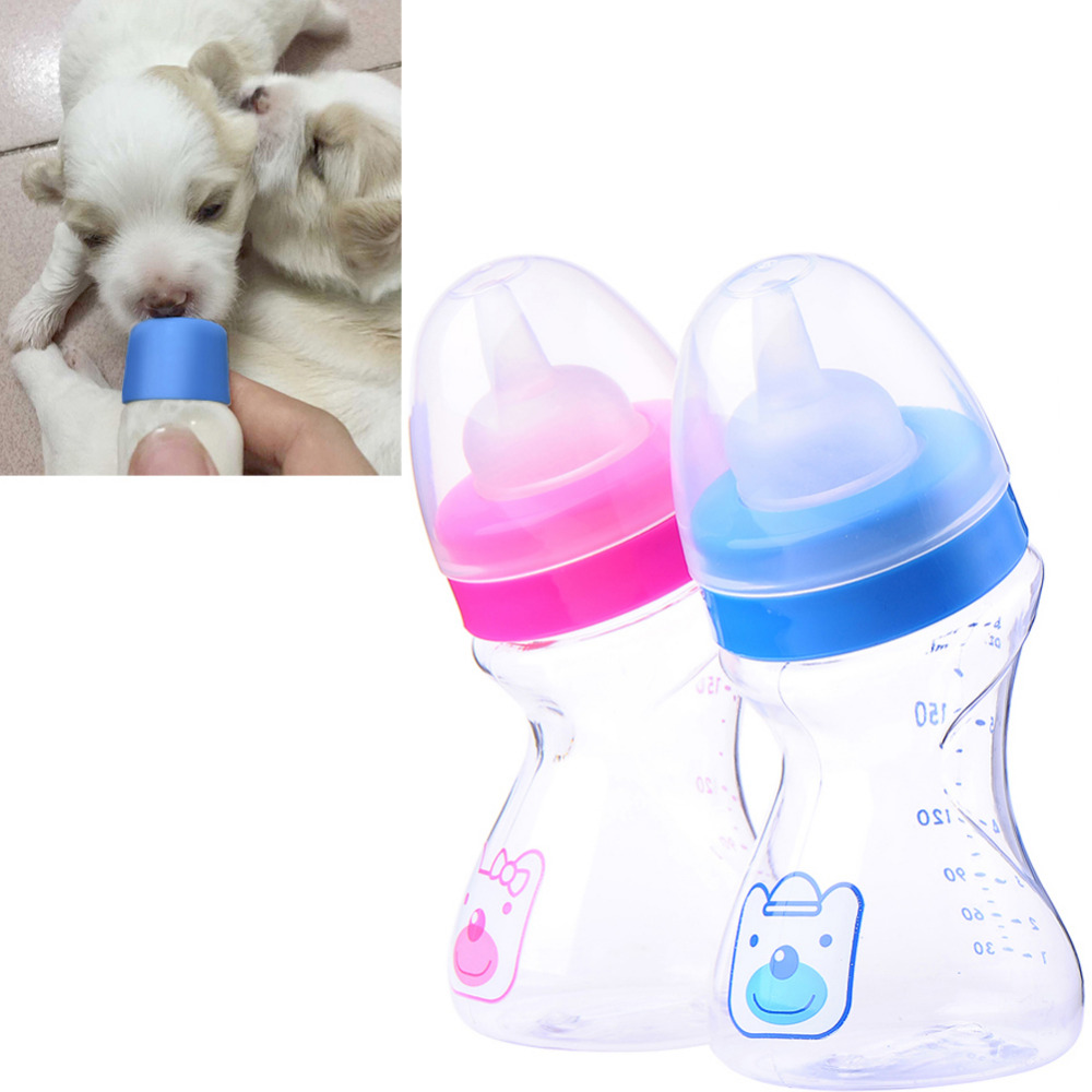 180ml Dog Milk Bottle Soft Silicone and PP Bottle Puppy Kitten Baby Animal Feeding Bottle
