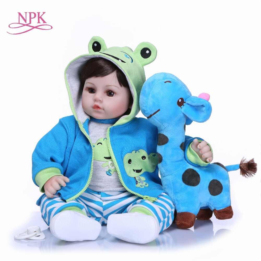NPK 47 см Новорожденные куклы Reborn Детские Силиконовые мягкие ткани тела малыша куклы для девочек принцесса малыш мода Bebes Reborn куклы