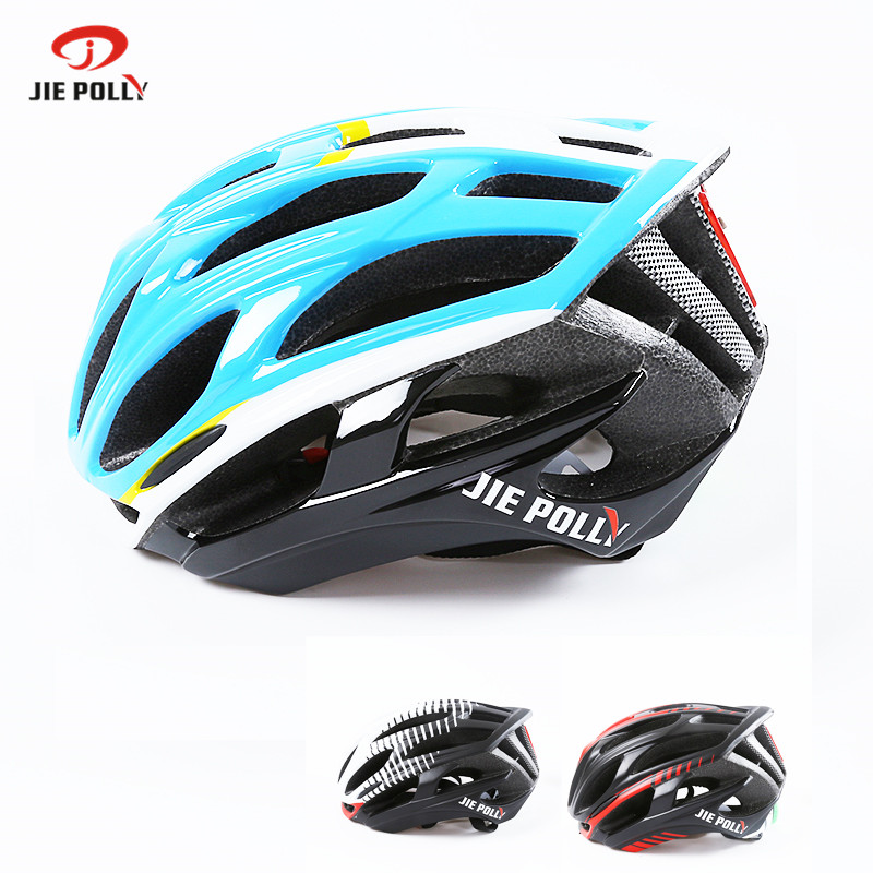 Jiepolly Cycling Helmet Ultralight Helmet Mountain Road Bicycle Helmet LED Warning Light 36 Air vent 53-64cm Adjustable casco цена