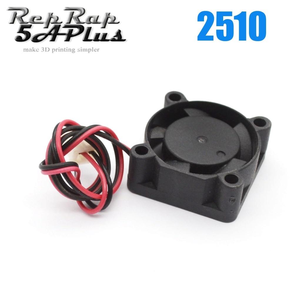 2510 12V 5V Brushless Cooling Fan for Reprap 3D Printer Parts DC Cooler 25x25x10mm Plastic Fan av 752512s dc 12v brushless cooling fan for diy
