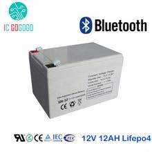 12V 12AH Lifepo4 аккумулятор глубокий 2000 цикл 3,2 V литий-железо фосфат аккумуляторная батарея Bluetooth BMS индивидуальные UPS AKKU