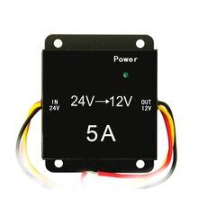 Preço competitivo 12 v dc para ac conversor de voltagem conversor 24 v 12 v 5A para o carro