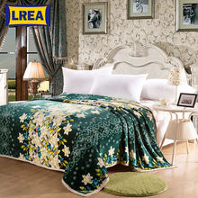 Brand Super discount high density Package edge design winter warm bedspread blanket cover on the bed big size car blanket LREA(China)