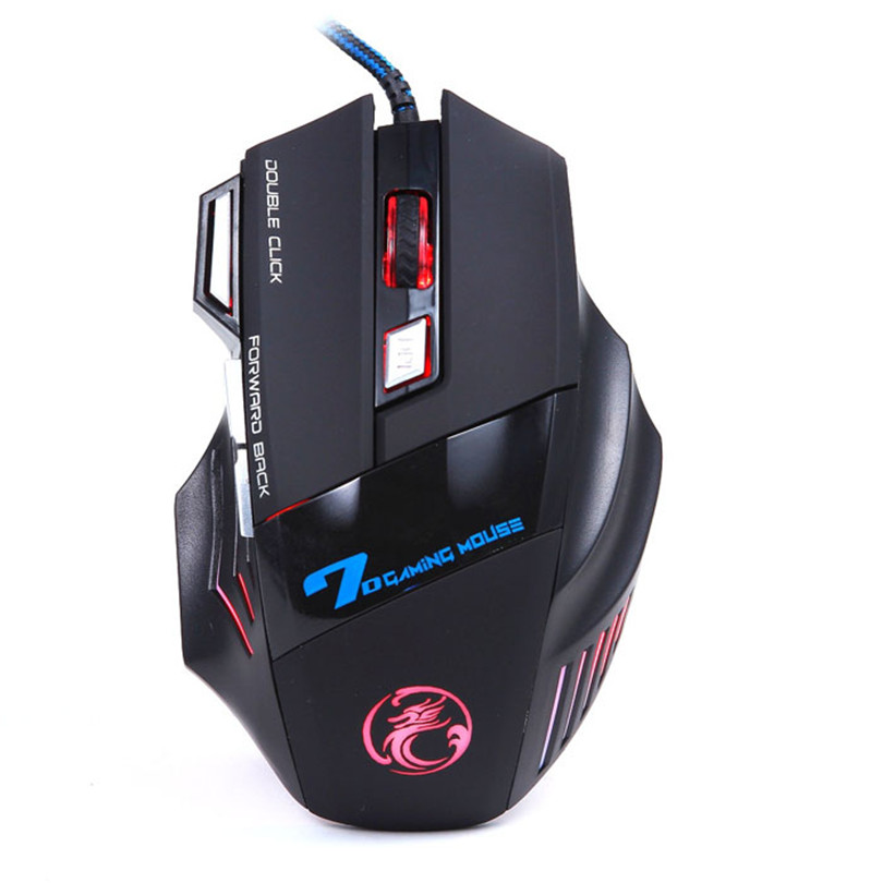 Realiable mouse  gaming mouse 3200DPI LED Optical 7D USB Wired Gaming Game Mouse For PC Laptop Game