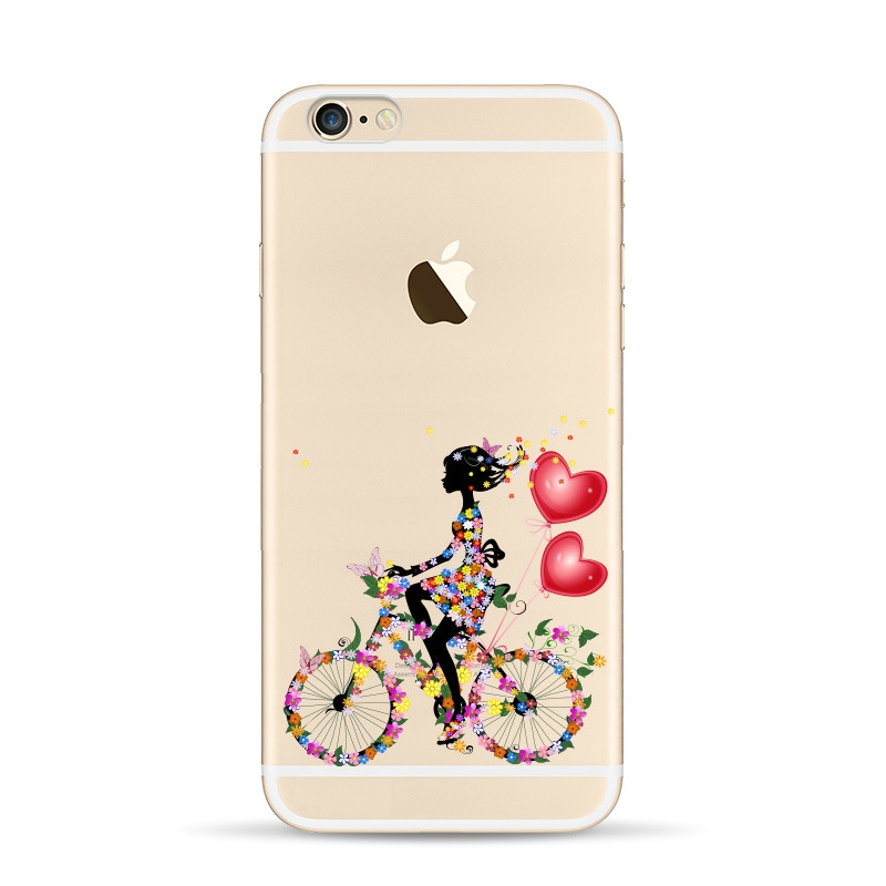 For Apple Iphone 5 5 S SE 4 4S 6 6S Case Bicycle Girl Love ...