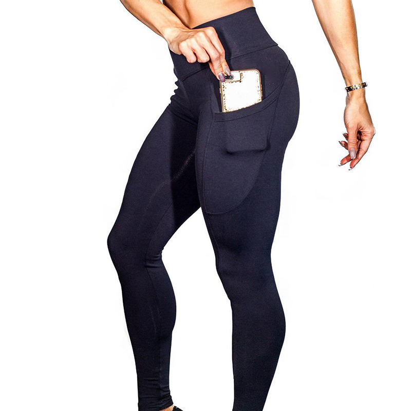 New fashion fitness leggings Women Casual pokets Elastic High Waist Leggings push up workout leggings Pants summer 2018
