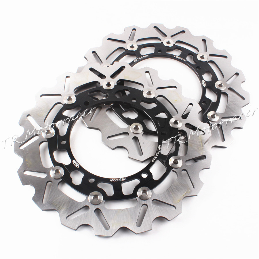 For Yamaha FJR 1300 2001-2004 XJR 1300 1999-2010 Motorcycle Accessories Front Brake Disc Rotor Black keoghs motorcycle brake disc brake rotor floating 260mm 82mm diameter cnc for yamaha scooter bws cygnus front disc replace