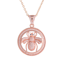 hot deal buy hot trendy jewelry shining zircon bee charms necklaces for women men handmade chain necklaces & pendants for friends bijoux gift